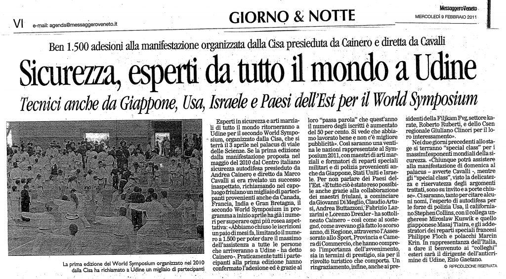 Sicurezza, esperti da tutto il mondo a Udine.